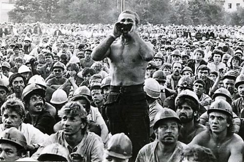 забастовка шахтеров Звягильский