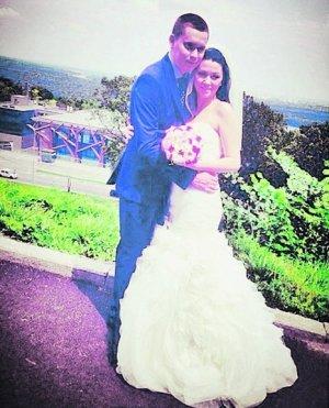 Артем Бакай с женой