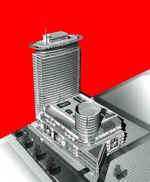 Континенталь c двумя офисными башнями в 2010
