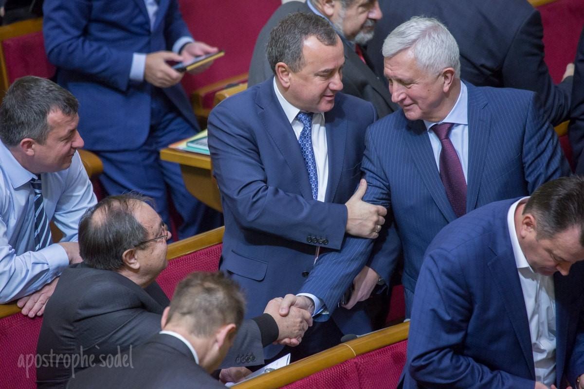 Александр Домбровский и Анатолий Матвиенко в ВР