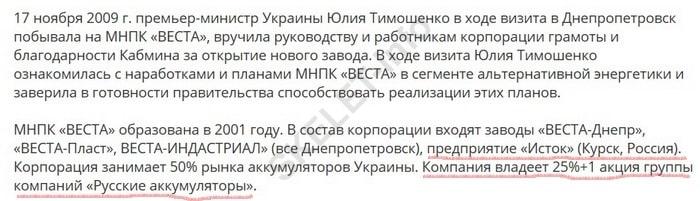 Тимошенко Веста