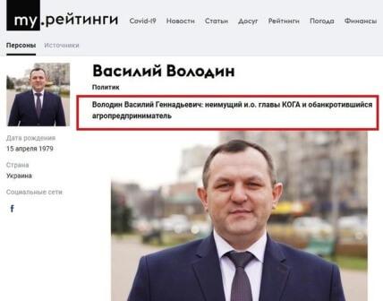 Василий Володин, досье, биография, компромат, киевская обл