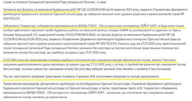 Сможет ли Макс Вегнер построить элитную высотку на Французском бульваре в Одессе: анализ судебных решений
