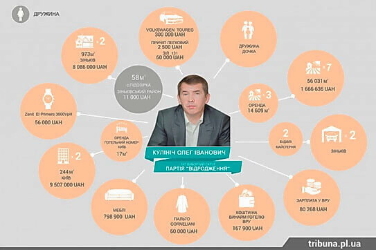декларация депутата Олега Кулиича