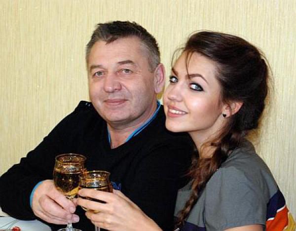 Алена Кошелева с отцом
