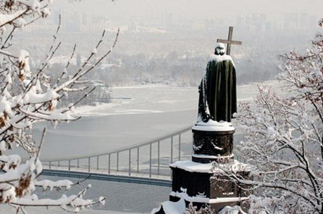 киев зимой