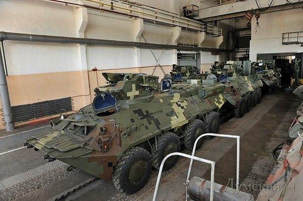 БТР-3, корпусное производство которых осуществляется на Азовмаше