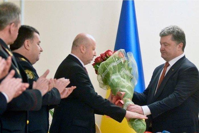 Александр Турчинов и Петр Порошенко