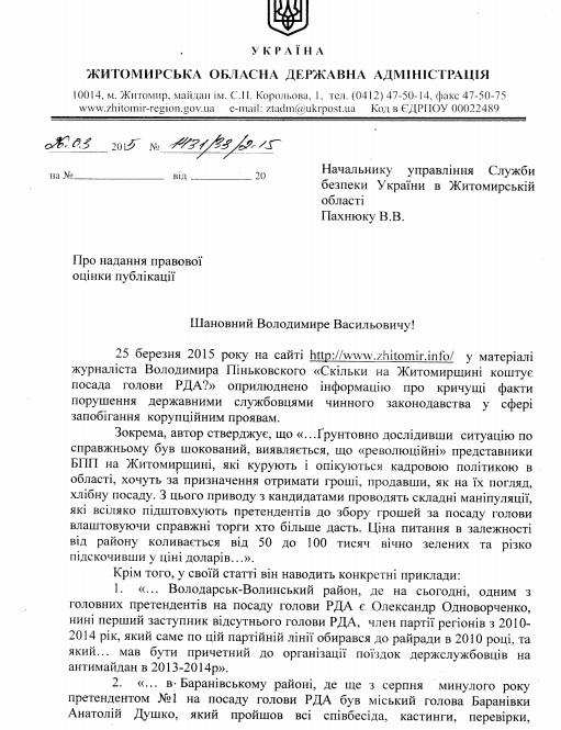заява машковского