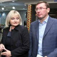 Юрий Луценко с женой