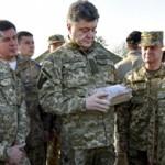Петро Порошенко оцінює зразки продуктів для військових