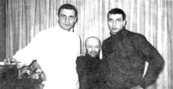 Братья Кличко и Виктор Рыбалка («Рыбка»)