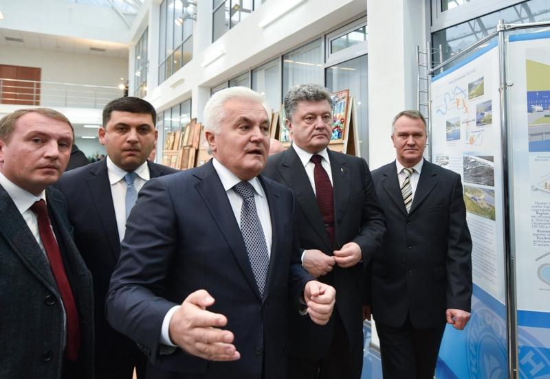 Volodymyr Groysman, Igor Syrota, Petro Poroshenko and Vladimir Kulish