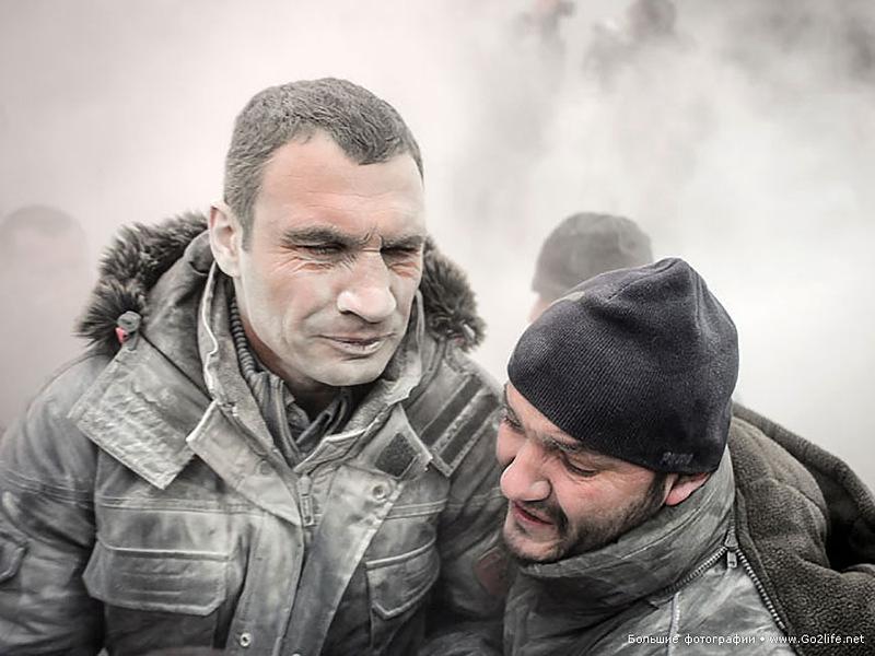 Владимира Кличко не очень чествовали на Майдане
