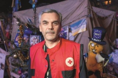 Олег Мусий во время революции на Майдане