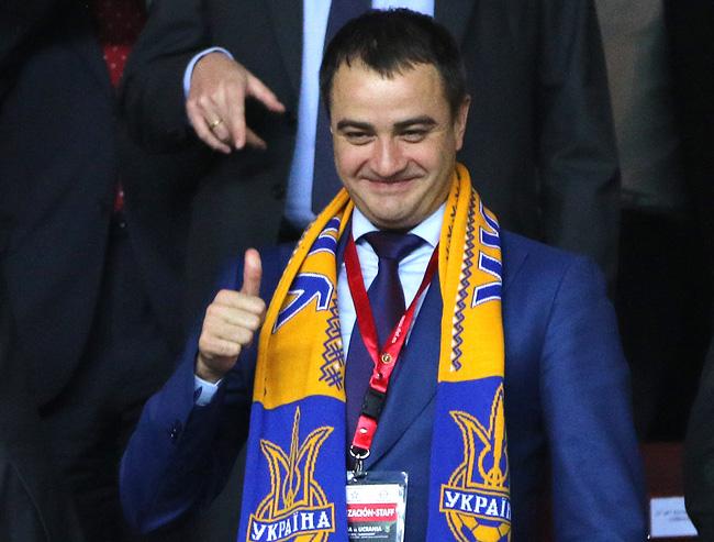 Андрей Павелко на футболе