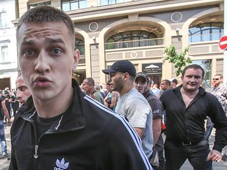 Вадим Титушко при разгоне митинга
