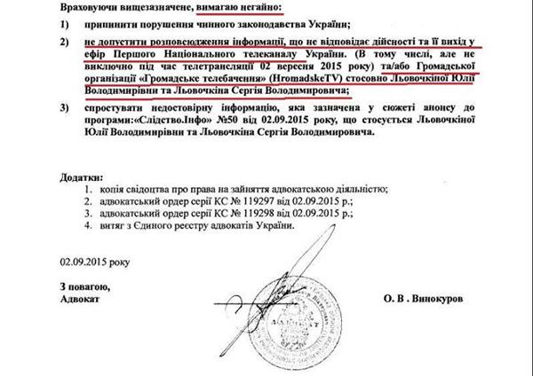 Ответ Левочкина