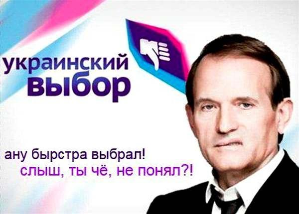 Фотожаба на агитационный плакат «Украинского выбора»