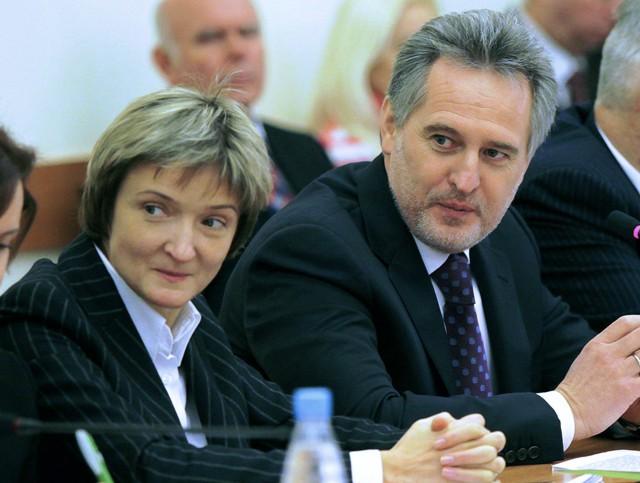 Анна Безлюдная и Дмитрий Фирташ
