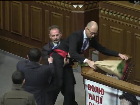 Максим Бурбак, Арсений Яценюк и Олег Барна