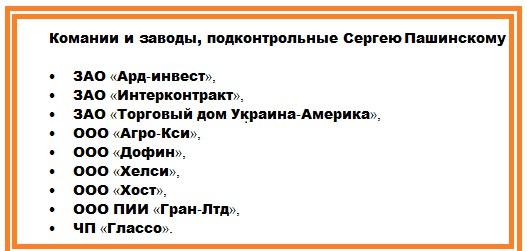 бизнес Пашинского