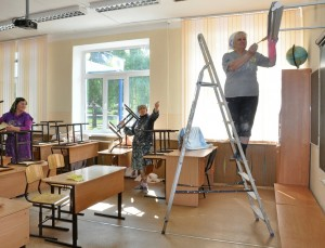 ремонт-в-классе-школе