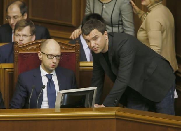 Арсений Яценюк и Андрей Иванчук в Верховной Раде