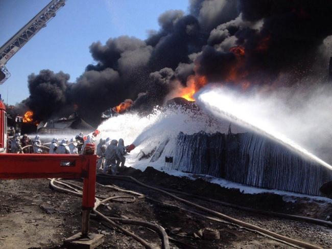 фото ДСНС з місця пожежі