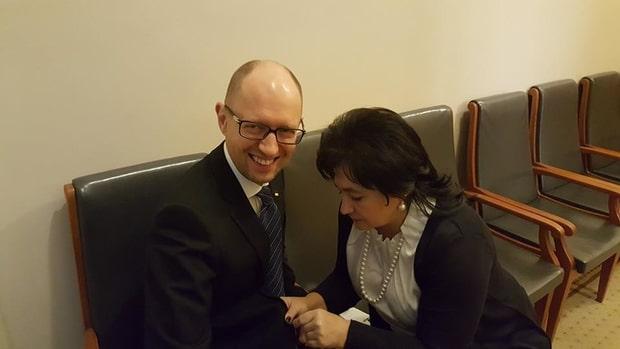 Арсений Яценюк и Мария Матиос