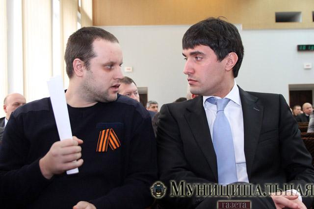 Павел Губарев и Николай Левченко (справа)