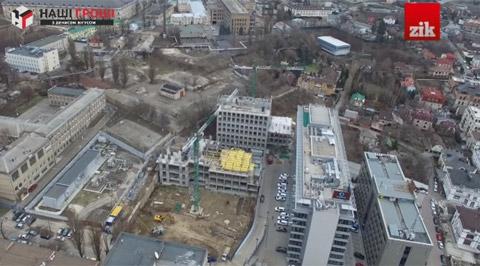 Будівництво на Лейпцизькій. Скриншот з відео