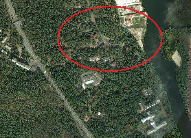 Элитный городок закрытого типа, где есть земли девочек Таруты и Лавриновича-младшего, фото: yandex.ua/maps