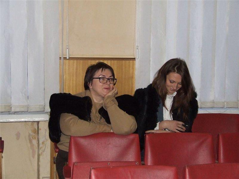 Инна Мазурук и руководитель пиар-кампании Геннадия Дикого Виктория Барскова