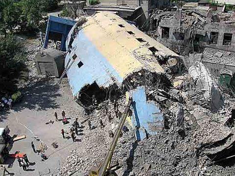обрушение шахты имени Бажанова