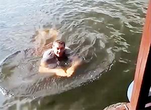 Вор в законе Андрей Львовский (Неделя) во время задержания