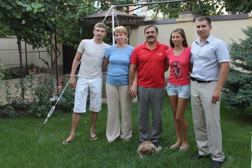 Антон Киссе с семьей