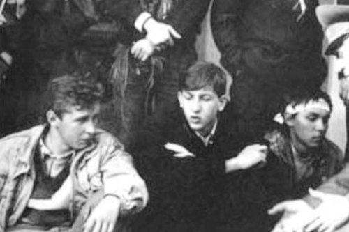 Вячеслав Кириленко и Олесь Доний во время «революции на граните»