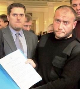 Александр Урбанский и Дмитрий Ярош в парламенте