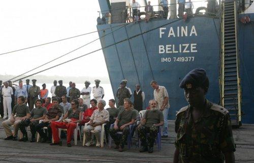 Злополучное судно «Фаина» после освобождения