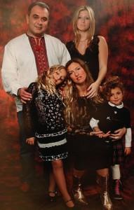 Давид Жвания с семьей