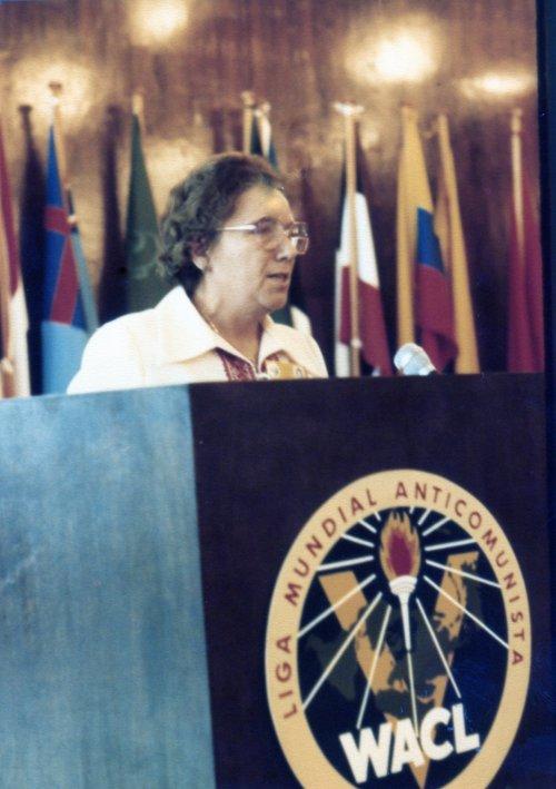 Ярослава Стецько на съезде Антикоммунистической лиги, 80-е годы