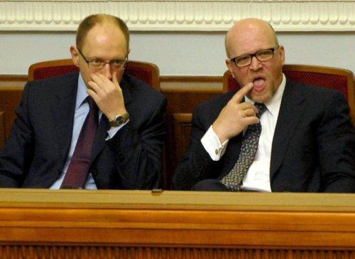 Арсений Яценюк и Роман Зварыч