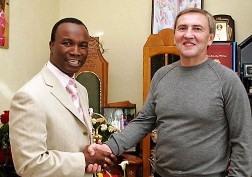 Сандей Аделаджа и Леонид Черновецкий