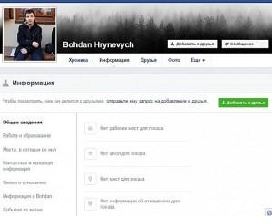 ФБ Богдана Гриневича