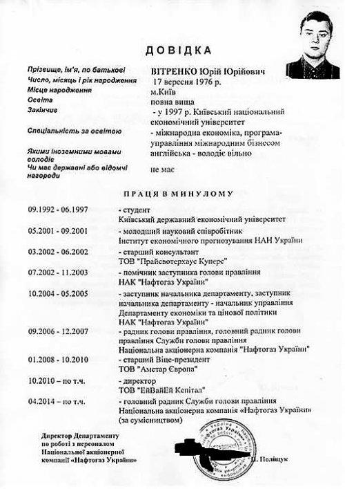 Rezyume YUriya Vitrenko