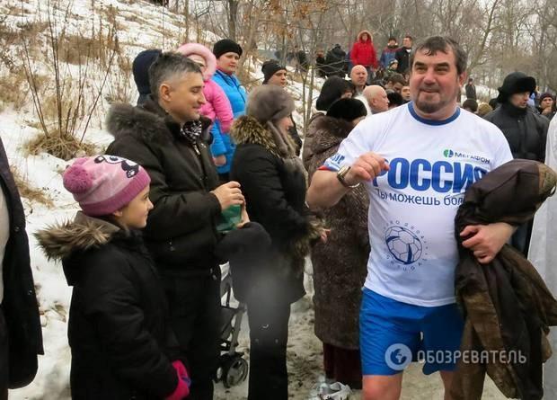 Жизнерадостный Бобков на крещенских купаниях в оккупированном Донецке