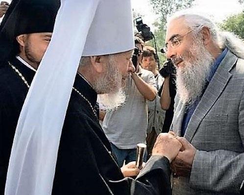 Виктор Нусенкис и митрополит Владимир (Сабодан)