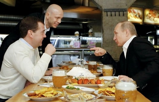 Кобзон Путин Медведев Мацола