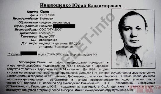Виктор Иванющенко: «Серый кардинал» времен Януковича – «Тёмная лоадка» Порошенко